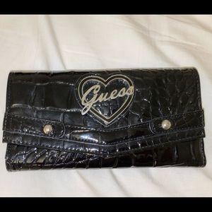 black pleather wallet